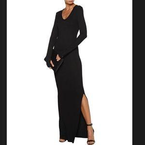 L'Agence Ribbed Long Sleeve Maxi Dress. Medium.